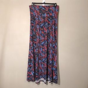 LuLaRoe | Patterned Foldover Maxi Skirt Sz L